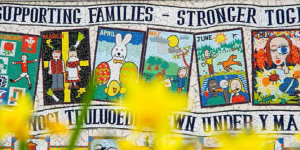 Supporting families mural